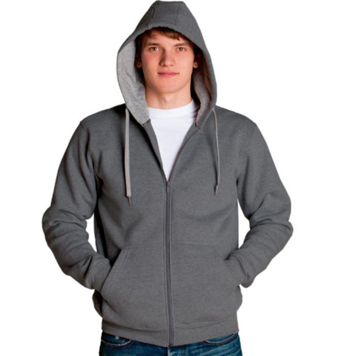 Толстовка мужская StanStyle, размер 48, цвет тёмный меланж-серый меланж 280 г/м