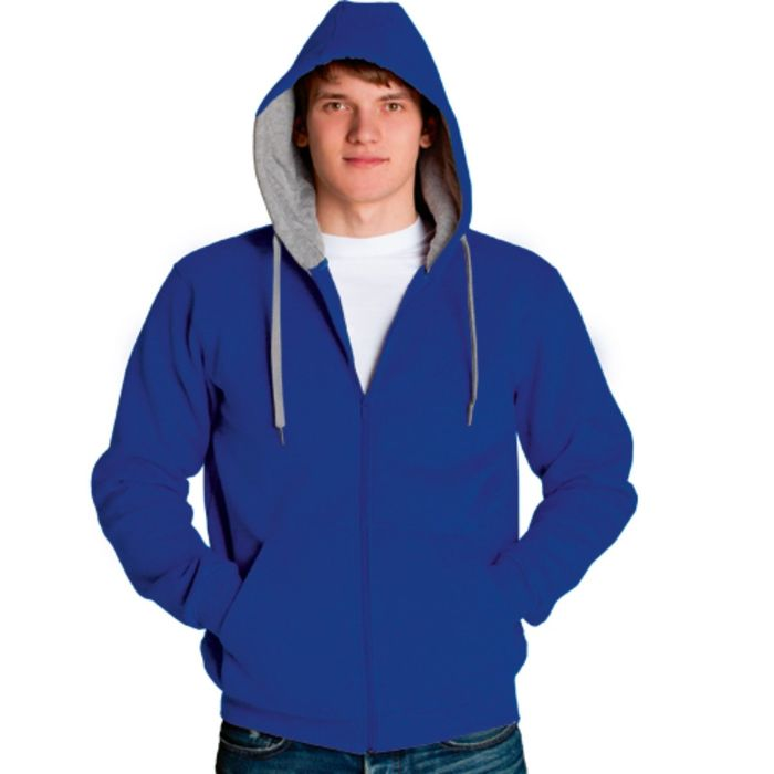 Толстовка мужская StanStyle, размер 50, цвет синий-серый меланж 280 г/м