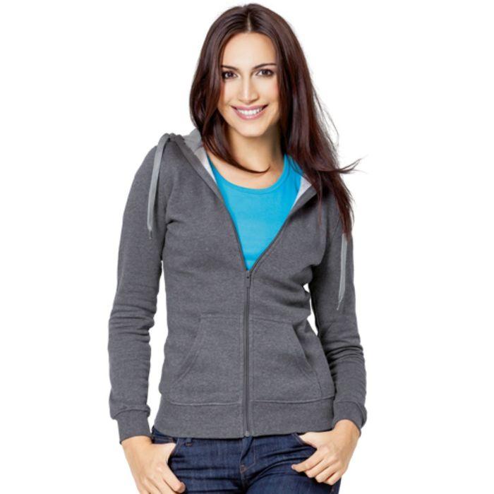 Толстовка женская StanStyle, размер 44, цвет тёмный меланж-серый меланж 280 г/м