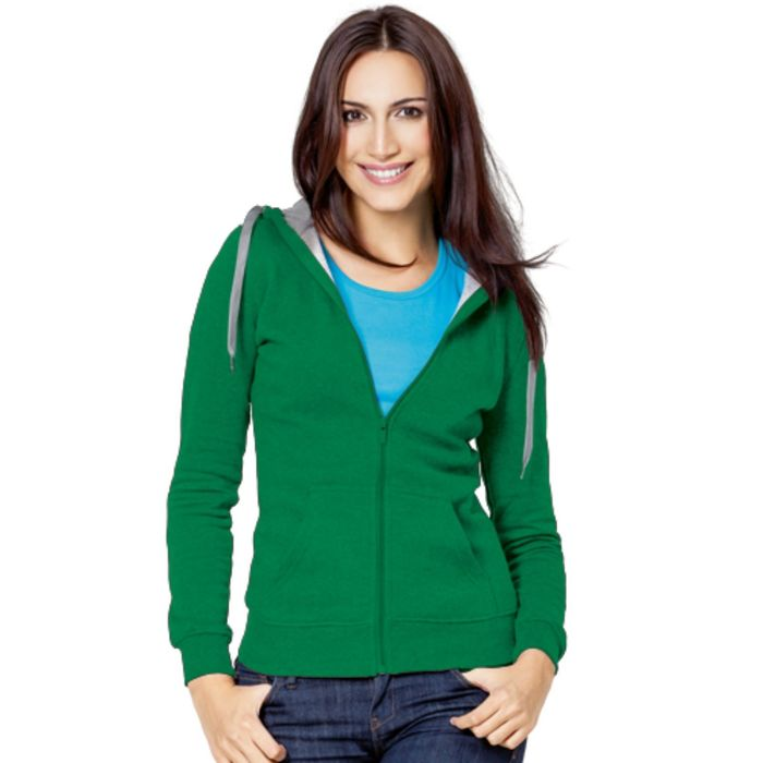 Толстовка женская StanStyle, размер 50, цвет зелёный-серый меланж 280 г/м
