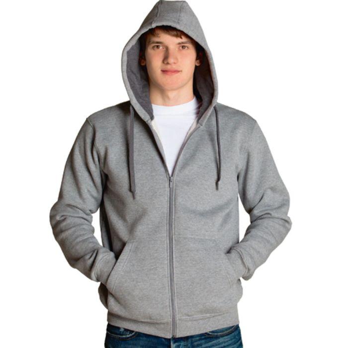 Толстовка мужская StanStyle, размер 46, цвет серый меланж-тёмный меланж 280 г/м
