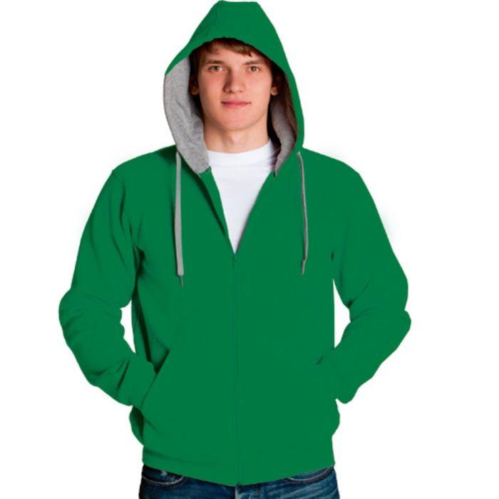 Толстовка мужская StanStyle, размер 46, цвет зелёный-серый меланж 280 г/м
