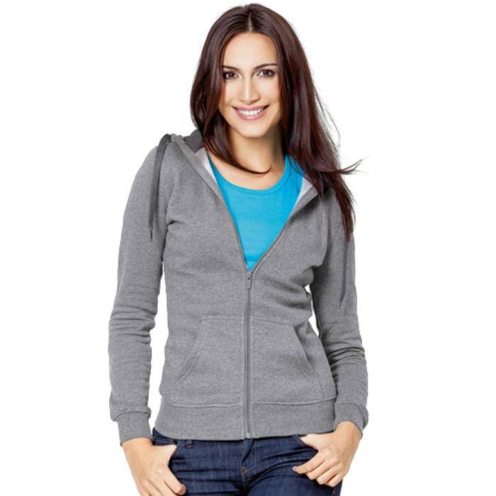 Толстовка женская StanStyle, размер 52, цвет серый меланж-тёмный меланж 280 г/м