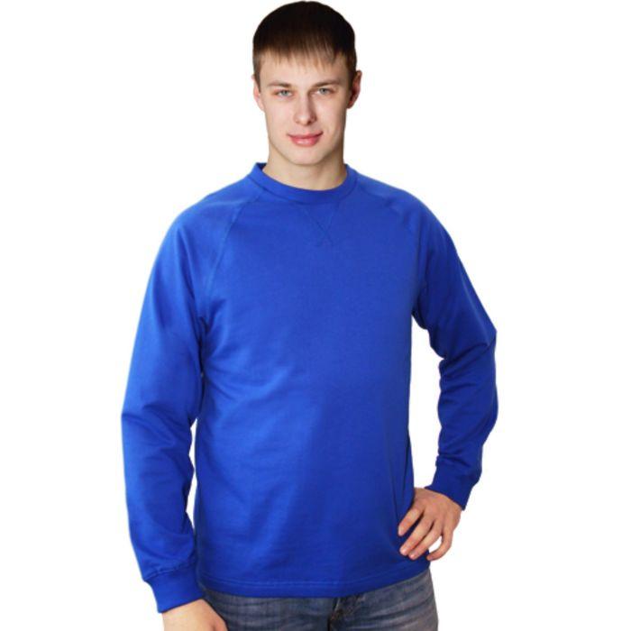 Толстовка мужская StanWork, размер 48, цвет синий 220 г/м