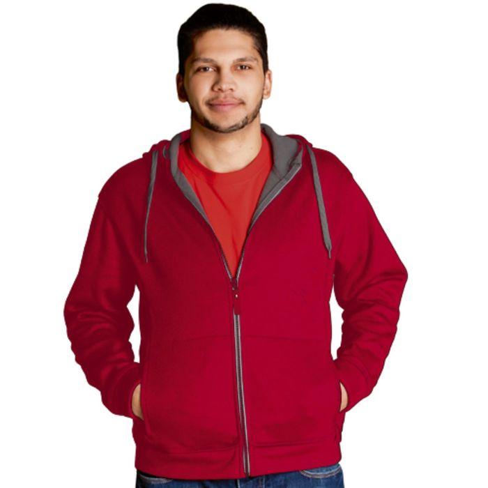 Толстовка мужская StanWinner, размер 52, цвет красный 320 г/м