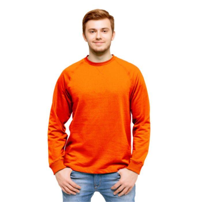 Толстовка мужская StanWork, размер 48, цвет оранжевый 220 г/м