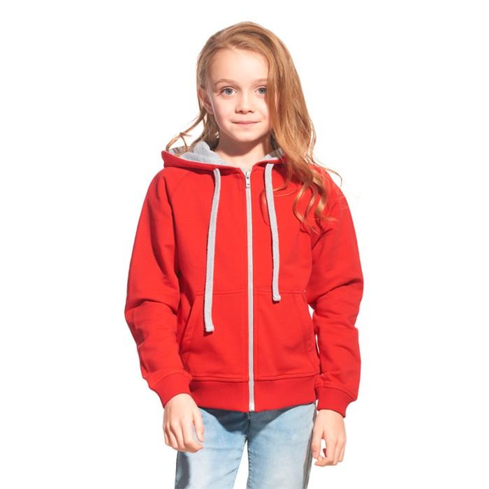 Толстовка детская StanCoolJunior, рост 140 см, цвет красный