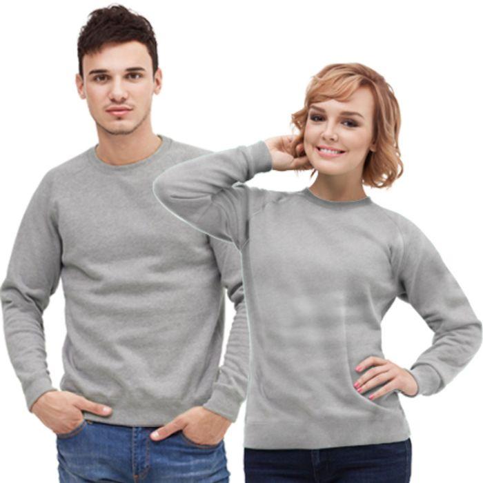 Толстовка муж/жен StanSweatshirt, размер 54, цвет серый меланж 280 г/м