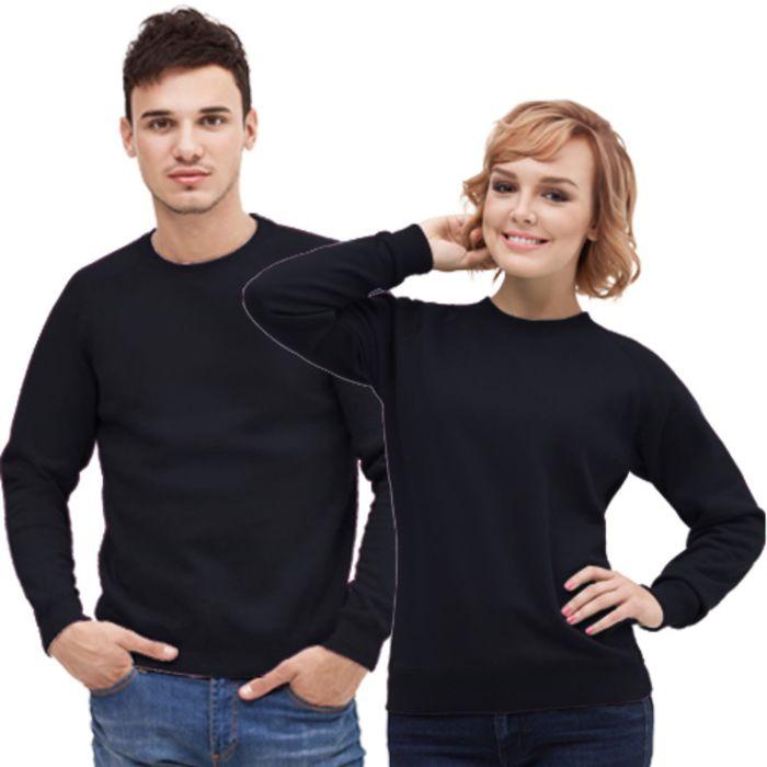 Толстовка муж/жен StanSweatshirt, размер 42, цвет чёрный 280 г/м