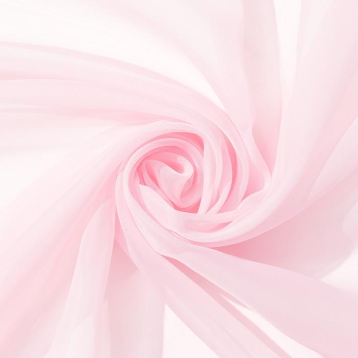 Тюль «Этель» 280×270 см, цвет розовый, вуаль, 100% п/э