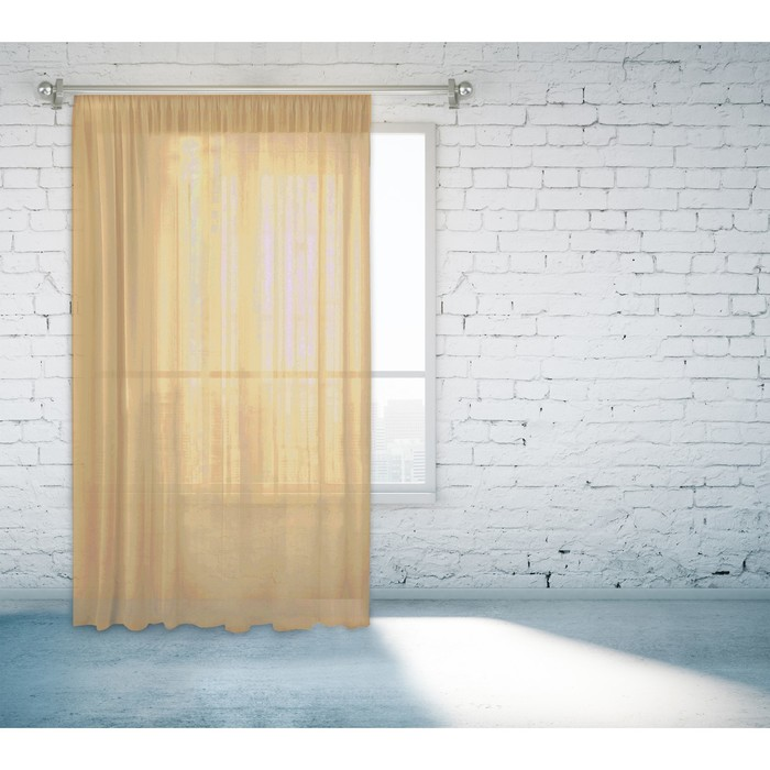 Тюль, размер 150х260 см, цвет тёмно-бежевый