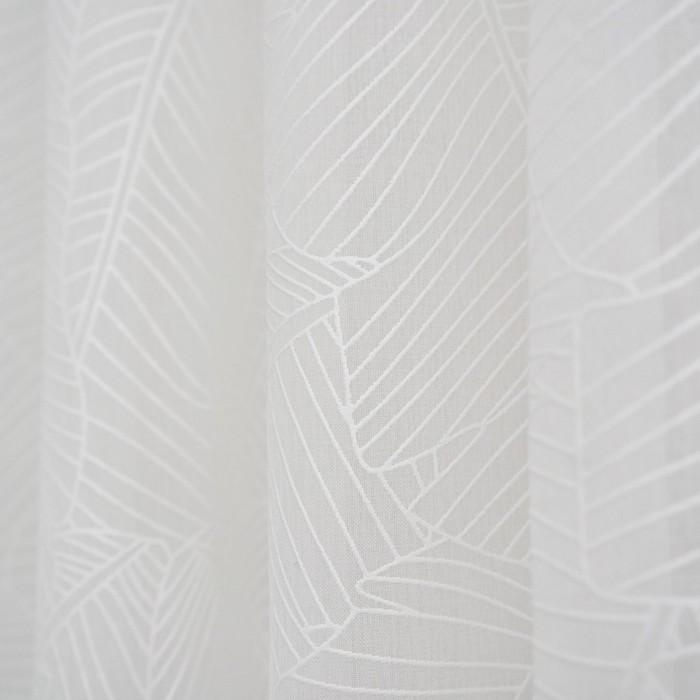 Штора Тюль Листья 150х260 см, пэ 100%