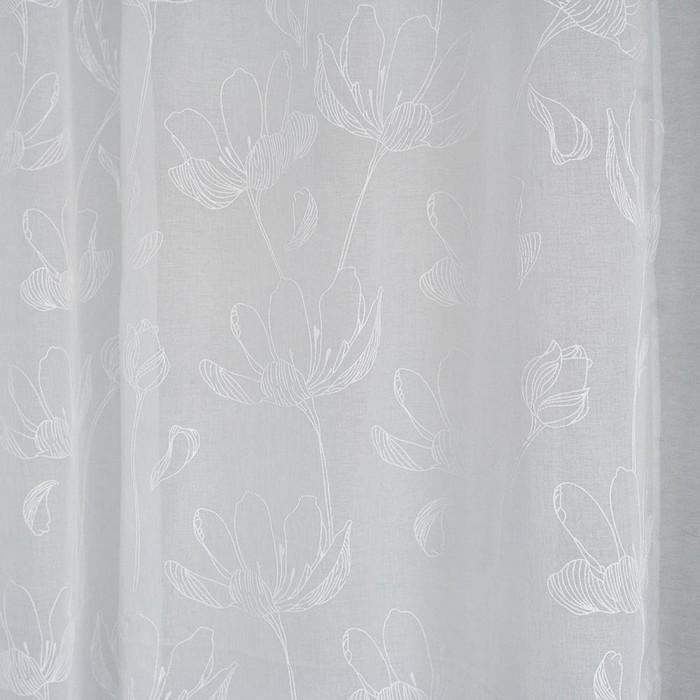 Штора Тюль Цветы 150х260 см, пэ 100%