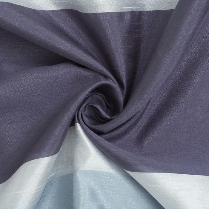 """Тюль """"Этель"""" Гамма синий 140х280 см (вертикальная полоса) 50 г/м², вуаль, 100% п/э"""