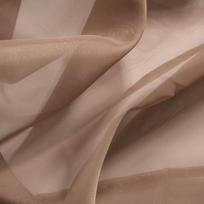 Штора вуаль однотонная 145х260 см, цвет какао
