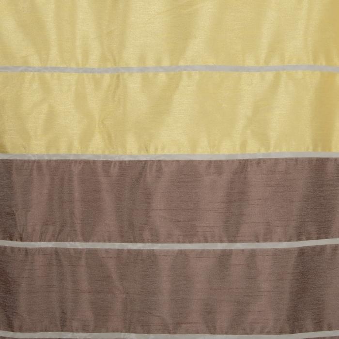 """Тюль """"Этель"""" 290х280 Гамма коричневый (горизонтальная полоса) б/утяжелителя, 100% п/э"""