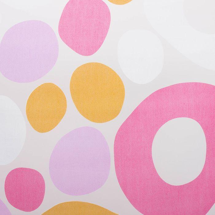 """Тюль """"Этель"""" Калейдоскоп (цвет розовый) без утяжелителя, ширина 250 см, высота 270 см"""