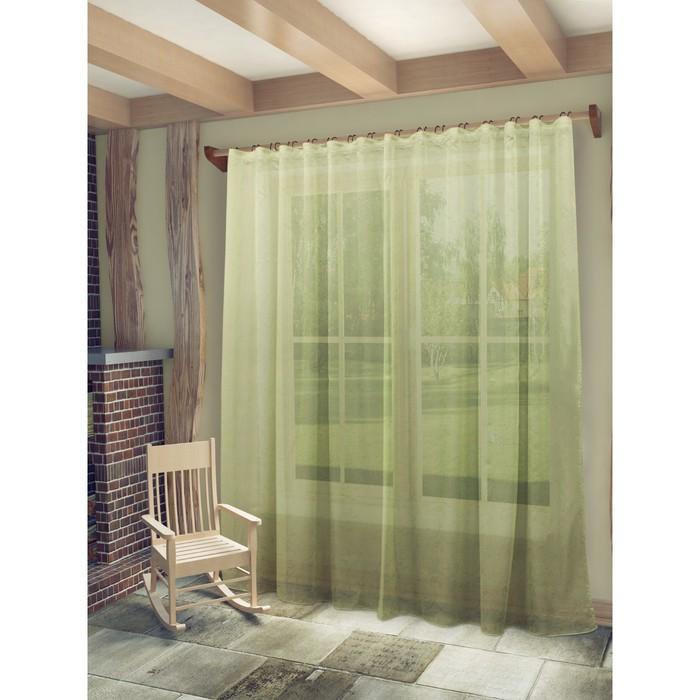 Тюль «Рейчел», ш. 300 х в. 280 см, цвет зеленый