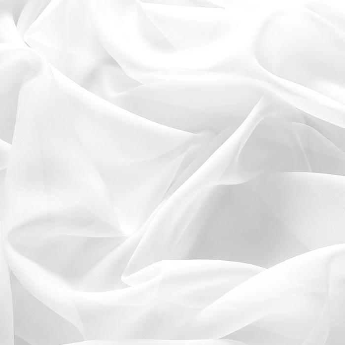 Штора 145х260 см тюль, цв.белый, пэ 100%