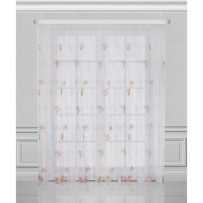 """Тюль """"Винтажная ковка"""", размер 350х275 см, коричневый 03403"""