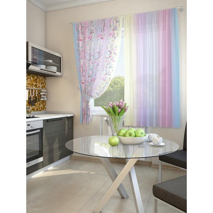 Комплект штор для кухни «Грец», размер 150 × 180 см (2 шт.)