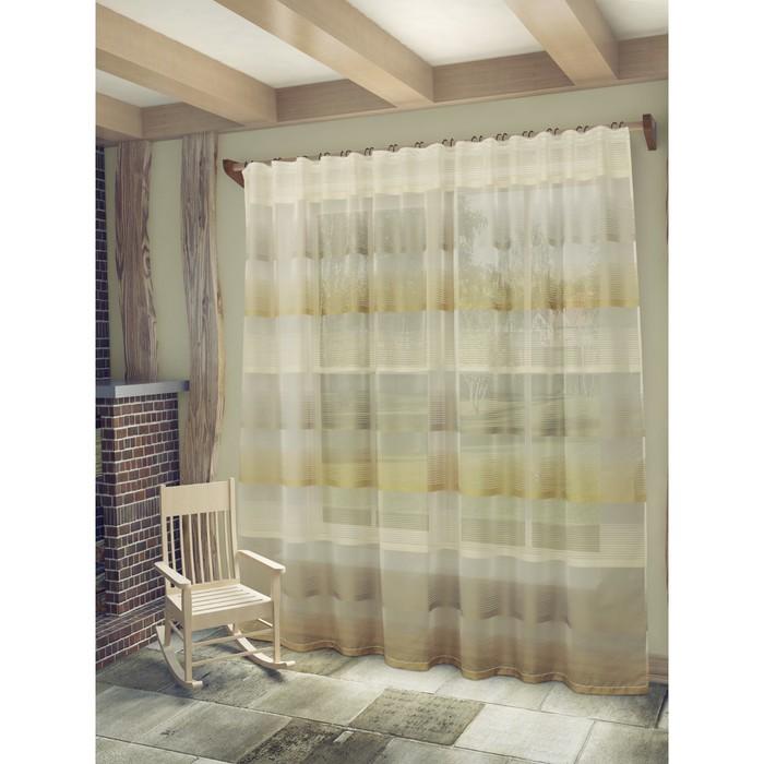 Тюль «Лучиана», ш. 285 х в. 255 см, цвет бежевый