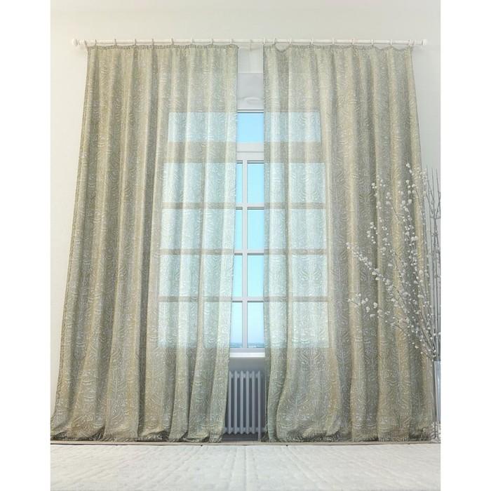 Тюль «Афрес», цвет бежевый, размер 150 х 260 см (2 шт.)