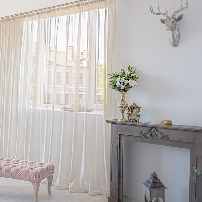 Тюль Hohmann, размер 500х270 см, цвет светло-бежевый, шторная лента