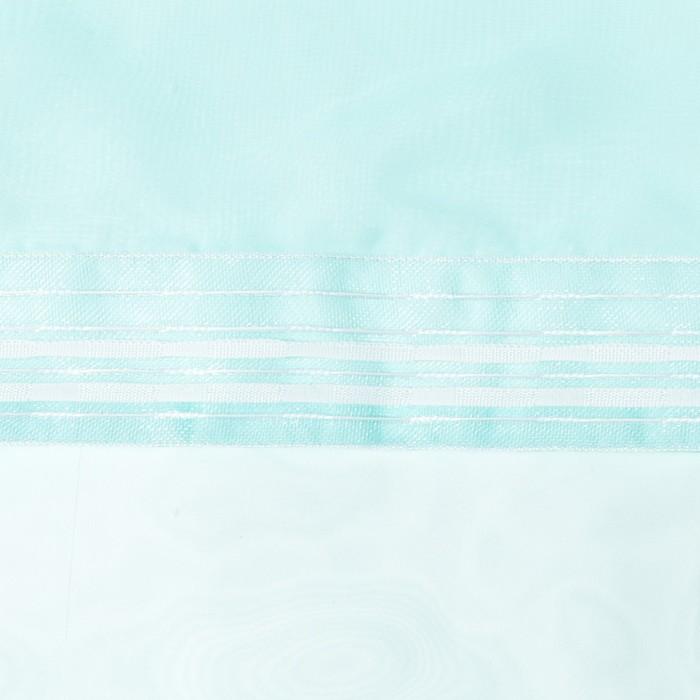 Тюль «Этель» 140×300 см, цвет морской, вуаль, 100% п/э