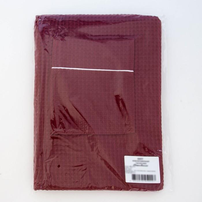 Килт вафельный мужской, цвет кирпич, 242г/м, хл100%