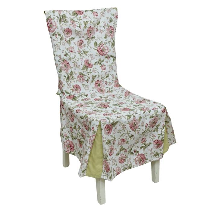 Чехол на стул English rose, зелёный
