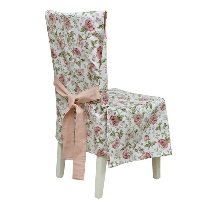 Чехол на стул English rose, розовый