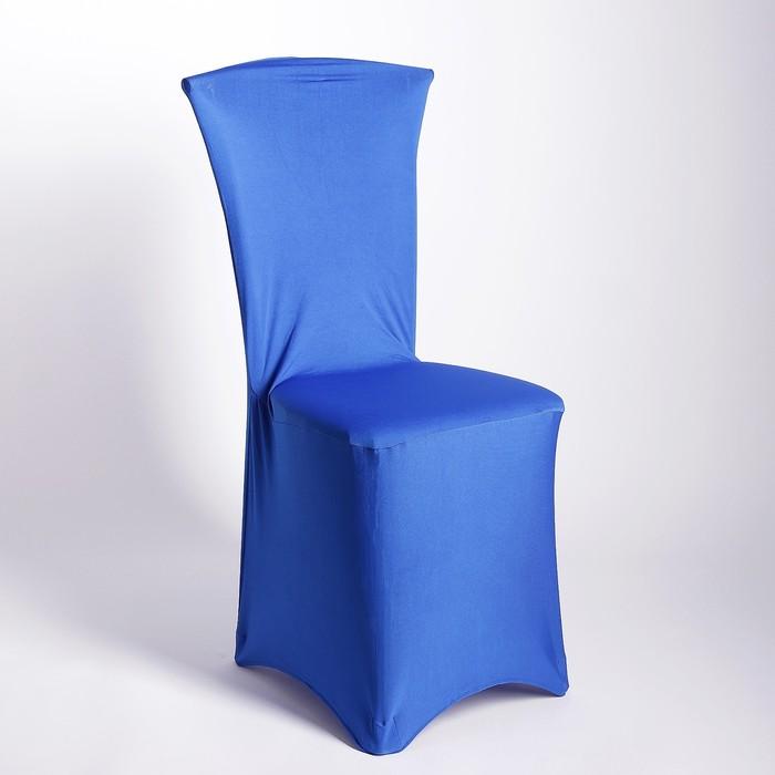 Чехол свадебный на стул, синий
