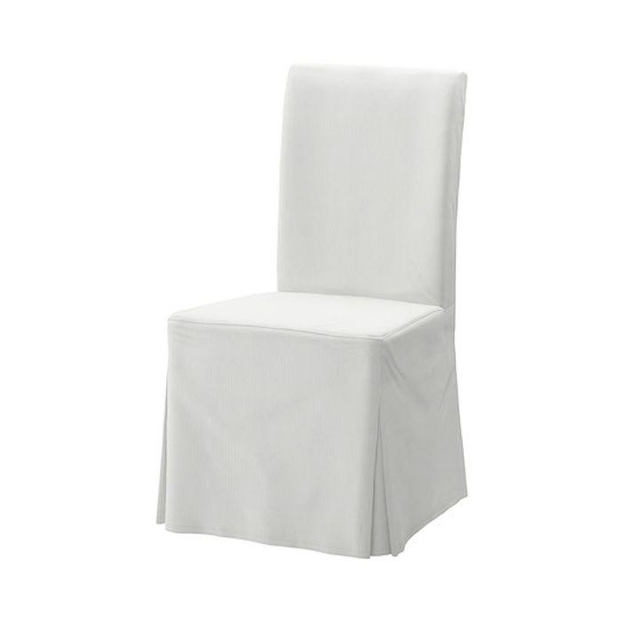 Чехол для стула, длинный, Блекинге белый ХЕНРИКСДАЛЬ