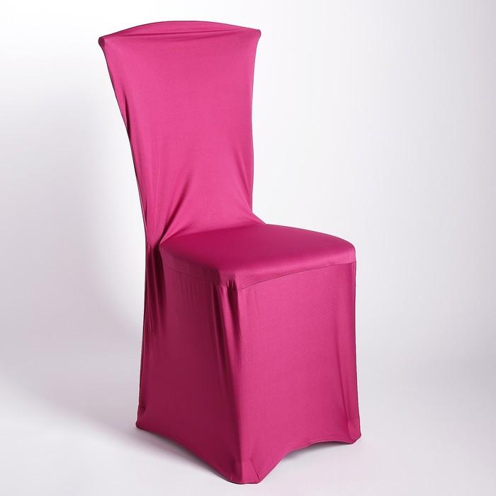 Чехол свадебный на стул, малиновый