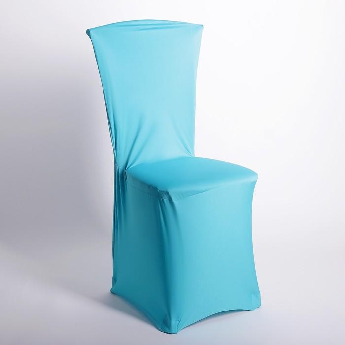Чехол свадебный на стул, голубой