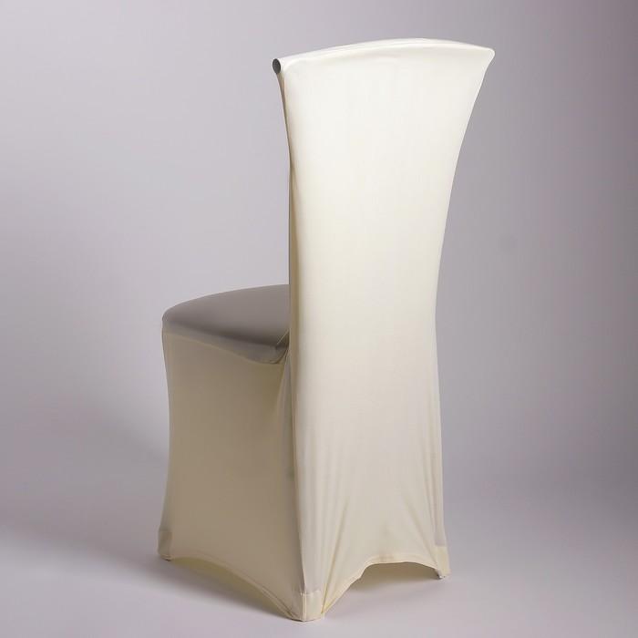 Чехол свадебный на стул, кремовый