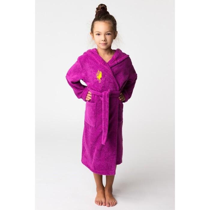 Халат махровый детский Принцесса, размер 34, цвет Розовый, 340 г/м² хл. 100% с AIRO
