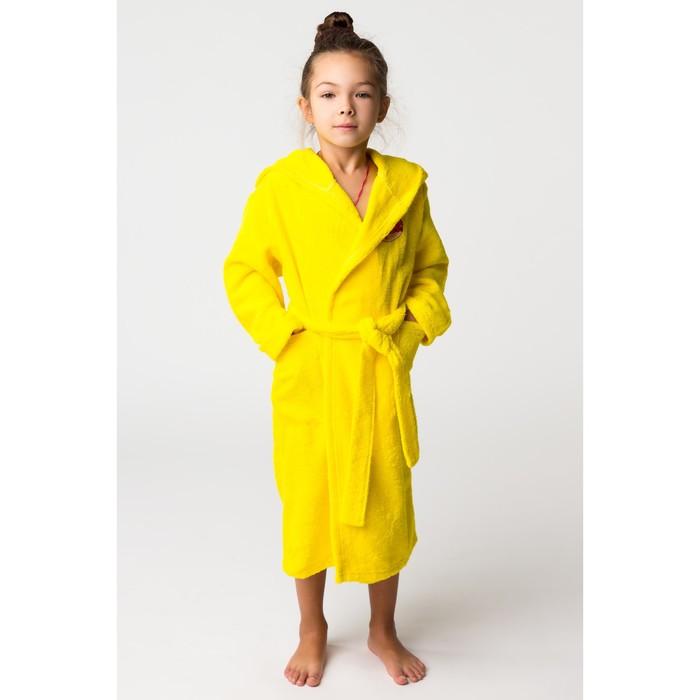 Халат махровый детский Пончик, размер 34, цвет жёлтый, 340 г/м² хл. 100% с AIRO