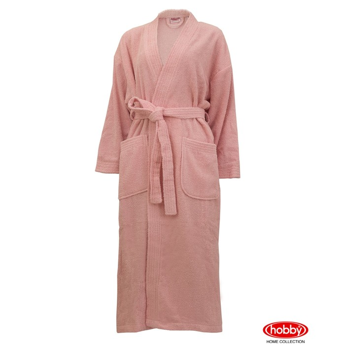 Халат женский Smart, размер М, розовый, махра 350 г/м2