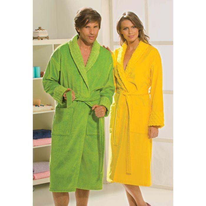 Махровый халат Angora, размер L, жёлтый