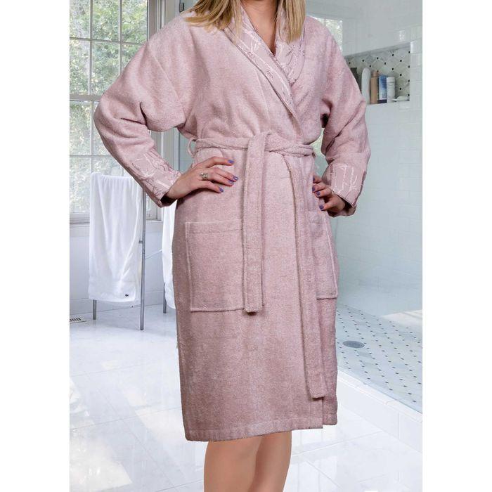Махровый халат Eliza, размер M, цвет пудра