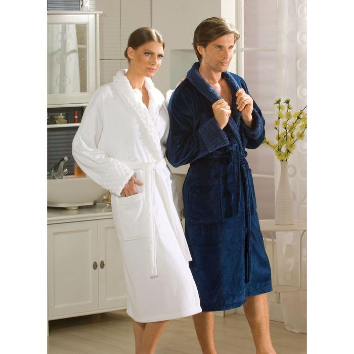 Махровый халат Angora, размер XL, цвет синий