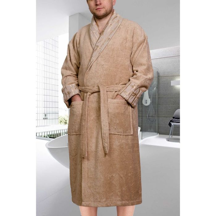Махровый халат Eliza, размер XXL, цвет бежевый