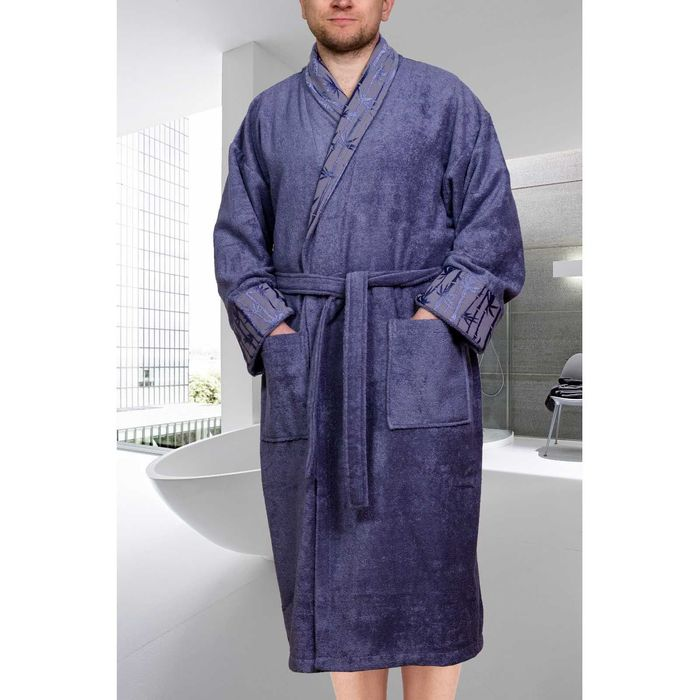 Махровый халат Eliza, размер XXL, цвет серый