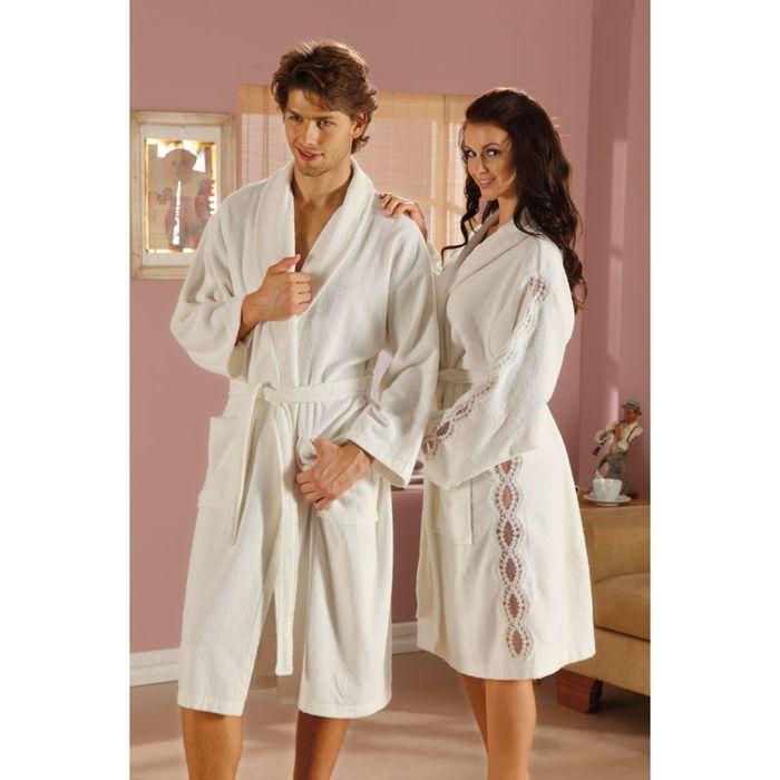 Махровый халат Vision, размер S, цвет кремовый