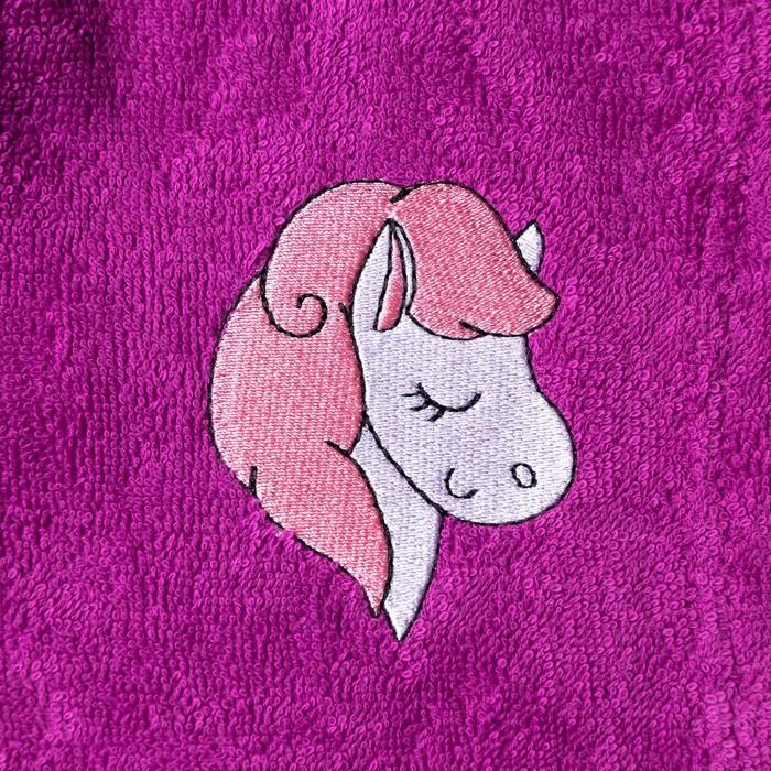 Халат махровый детский Лошадка, размер 32, цвет Розовый, 340 г/м² хл. 100% с AIRO