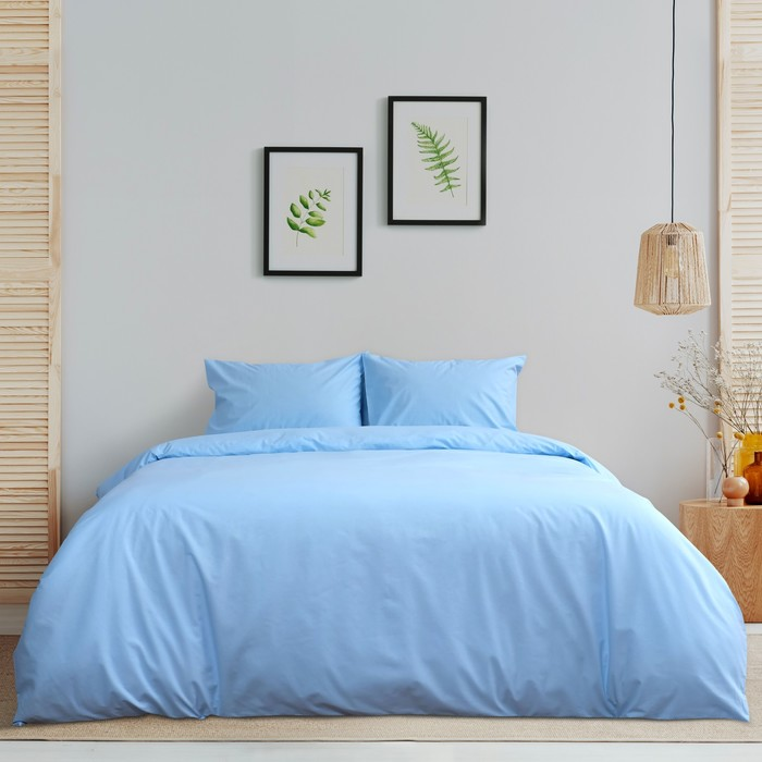 Постельное бельё «Этель» дуэт Арома Поплин 150×210 см - 2 шт., 220×240 см, 50×70 см - 2 шт., Жасмин, 125 г/м², 100% хл