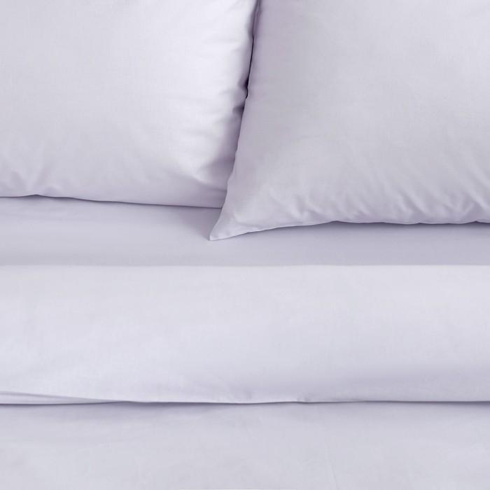 Постельное бельё «Этель: Арома поплин», 1.5-сп., 150 × 210 см, 150 × 220 см, 50 × 70 см (2 шт.), лаванда, 125 г/м², 100%-ный хлопок