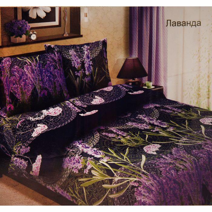"""Постельное бельё 2сп макси""""Традиция: Лаванда"""", цвет фиолетовый, 175х217 см, 220х240 см, 70х70см - 2 шт"""
